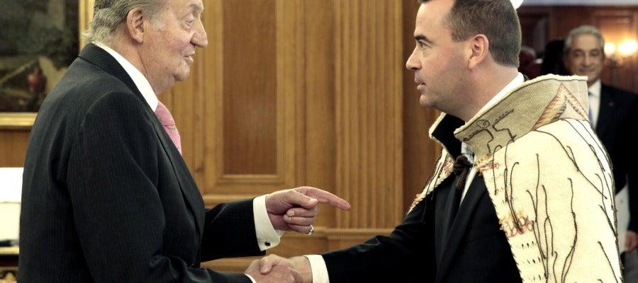 El Rey recibe las cartas credenciales del nuevo embajador de Nueva Zelanda, Michael Swain.