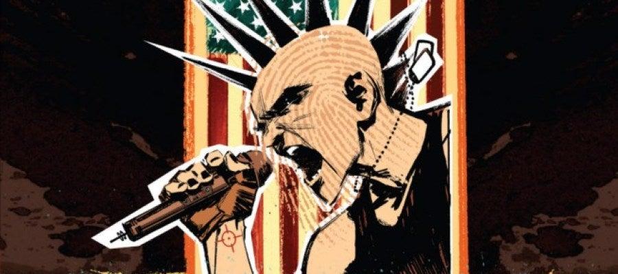 Detalle de la portada de 'Punk Rock Jesus' que edita ECC Ediciones