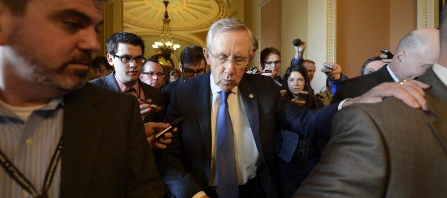 El líder de la mayoría demócrata del Senado estadounidense, Harry Reid
