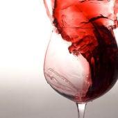 Explosiva copa de vino