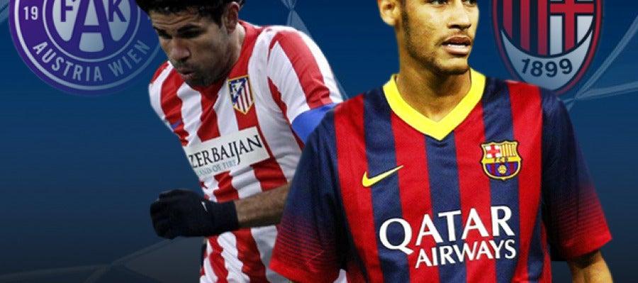 Autria de Viena - Atlético de Madrid y Milan - Barcelona
