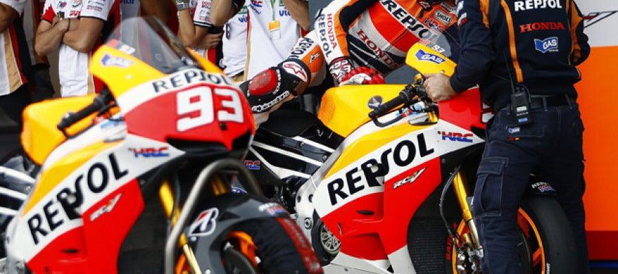 Marc Márquez tras ser descalificado en el GP de Australia