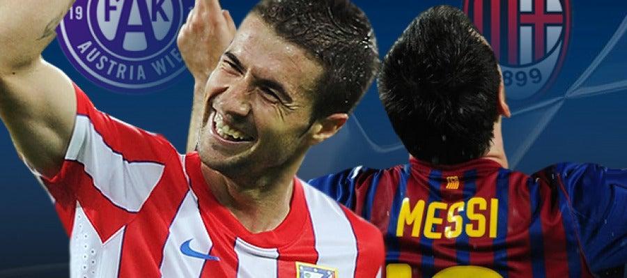 Atlético de Madrid - Austria de Viena y Barcelona - Milan en Radioestadio