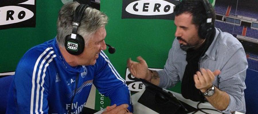 Ancelotti y Héctor Fernández en Al Primer Toque