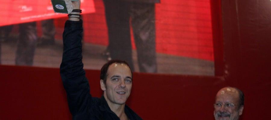 Pedro Martino, del restaurante 'Naguar de Oviedo', ganador del primer premio del 9º Concurso Nacional de Pinchos y Tapas de Valladolid