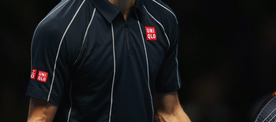 Djokovic celebra un punto ante Nadal