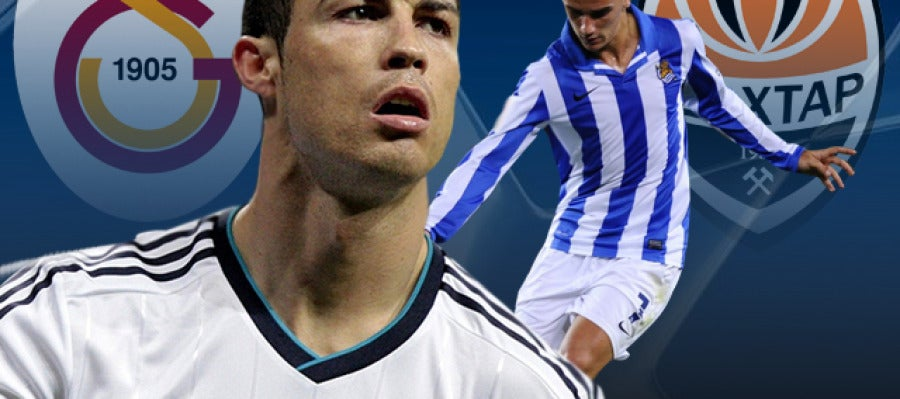 Real Madrid - Galatasaray Shakhtar - Real Sociedad