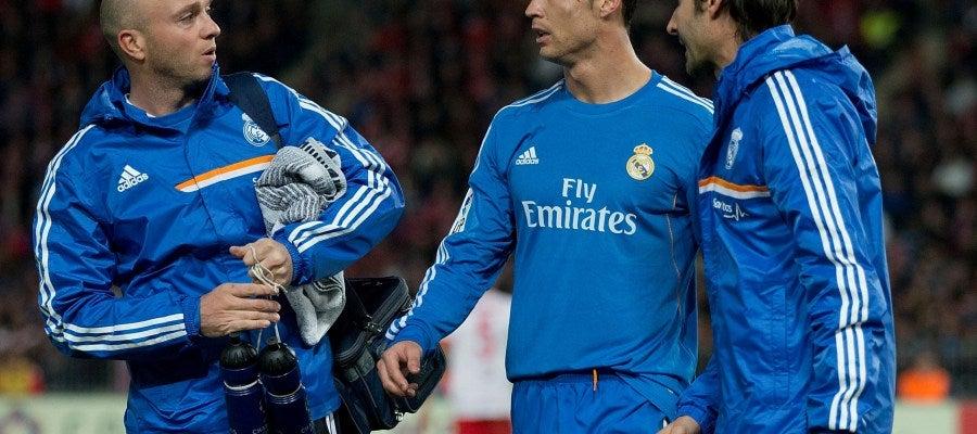 Cristiano Ronaldo pidió el cambio en el minuto 52 en el partido ante el Almería