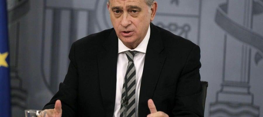 Fernández Díaz durante la rueda de prensa de un Consejo de Ministros