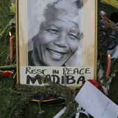 Un retrato del expresidente sudafricano Nelson Mandela