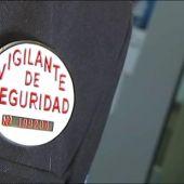 Placa que identifica a los vigilantes de seguridad