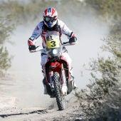Joan Barreda, en acción en la 2ª etapa del Dakar