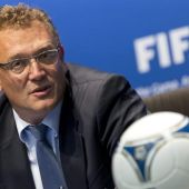 El secretario general de la FIFA, Jérôme Valcke, en un acto