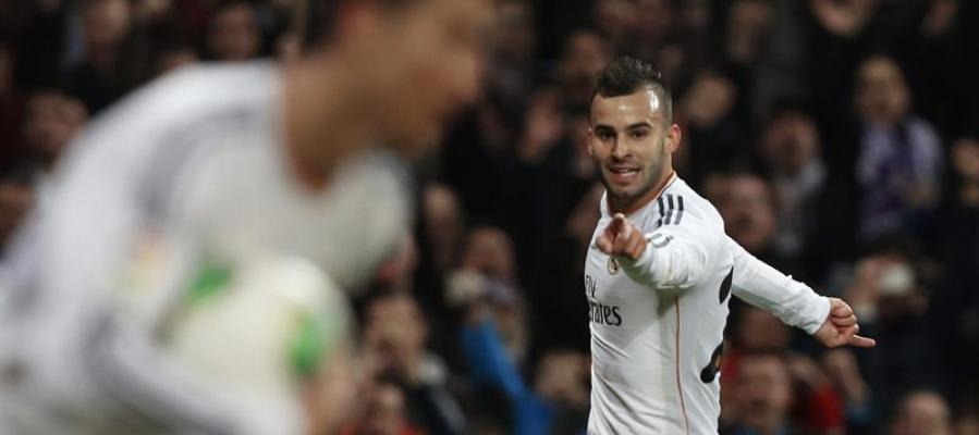 Jesé celebra su gol ante Osasuna