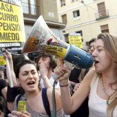 Manifestación de jóvenes para reivindicar un trabajo digno.