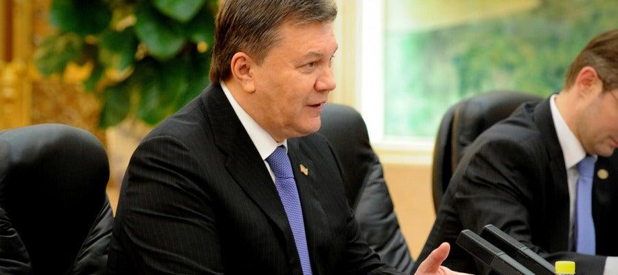 El cesado presidente de Ucrania, Viktor Yanukovich