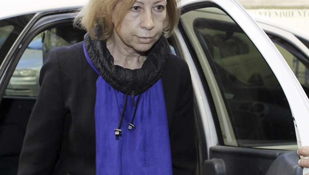 La expresidenta de Consell de Mallorca, Maria Antonia Munar, a su llegada a los juzgados