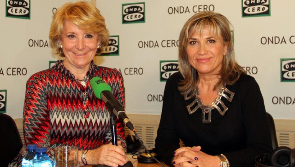 Esperanza Aguirre y Julia Otero