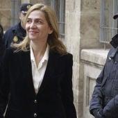 La infanta Cristina llega al juzgado de Palma