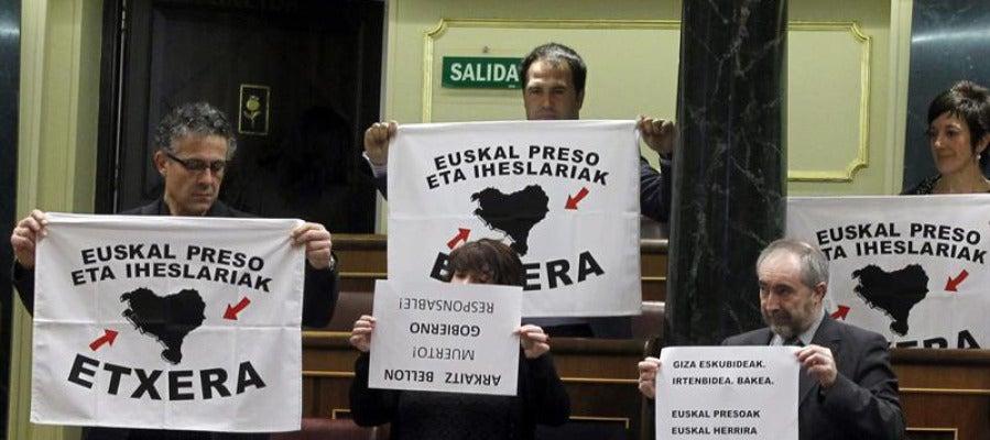 Diputados de Amaiur piden el acercamiento de presos de ETA al País Vasco