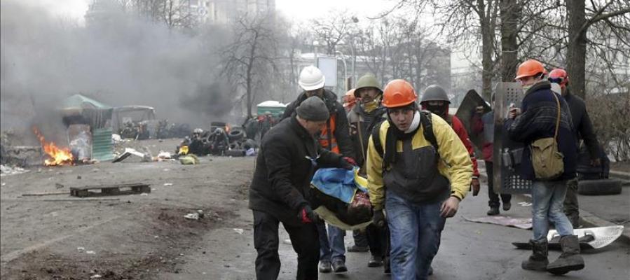 Transportando un cuerpo en Kiev