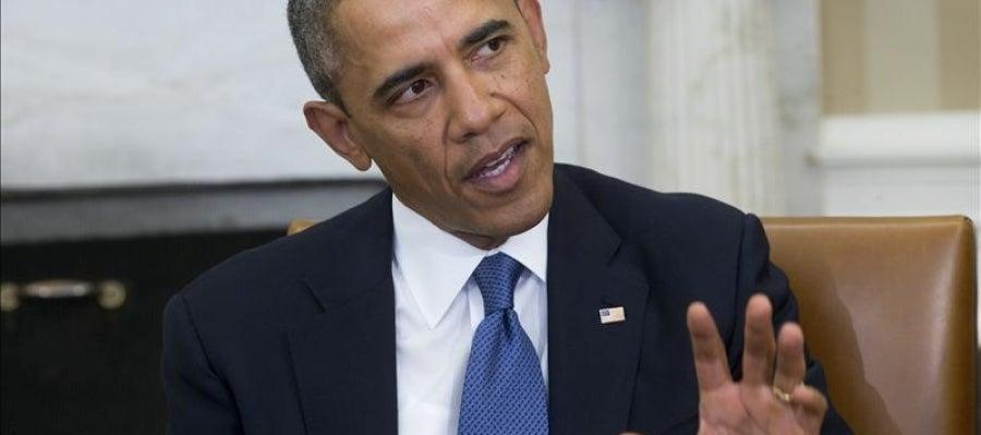 Barack Obama en una reunión en la Casa Blanca.