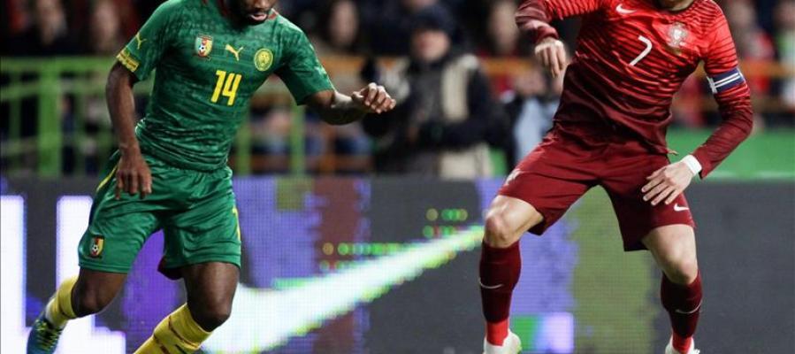 Cristiano Ronaldo en su duelo con Portugal