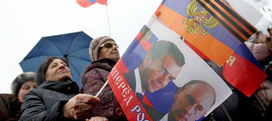 Seguidores rusos en Crimea