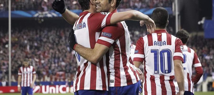 Diego Costa celebra uno de sus goles