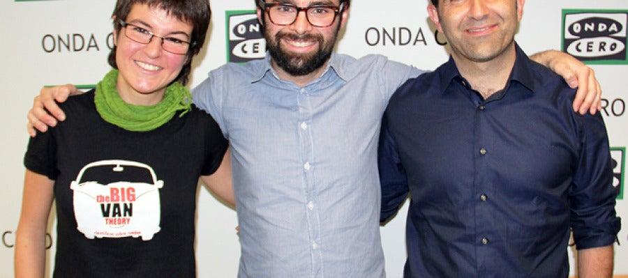 Helena González, Ricardo Moure y Javier Hernández