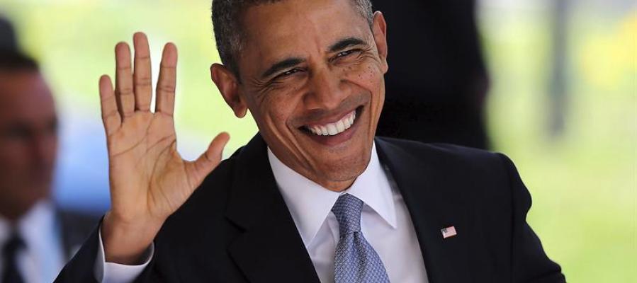 Barack Obama en la llegada a la Cumbre de Seguridad Nuclear en La Haya (Holanda)