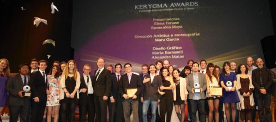 Foto de familia de los premiados de los Kerygma Awards