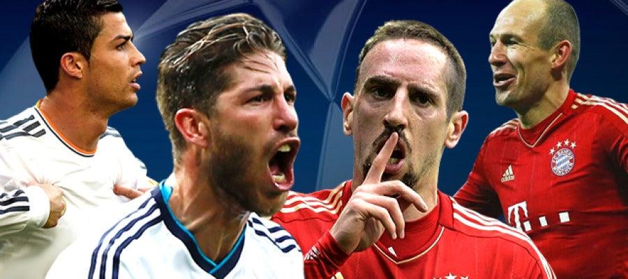 Madrid y Bayern protagonizarán un duelo muy disputado en 'semis'