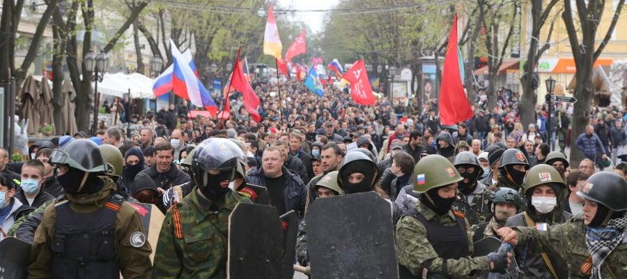 Enfrentamientos en el este de Ucrania
