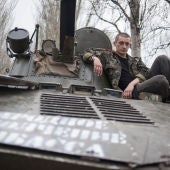 Un militar relajado