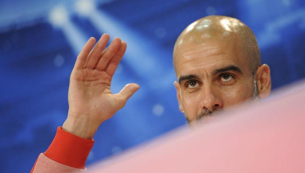 Pep Guardiola en rueda de prensa