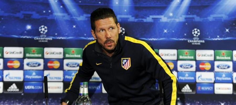 El entrenador argentino del Atlético de Madrid, Diego Simeone