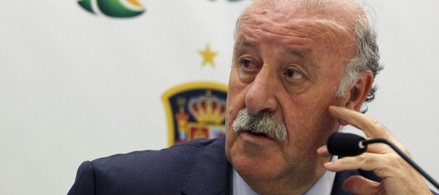 Vicente Del Bosque, durante la rueda de prensa
