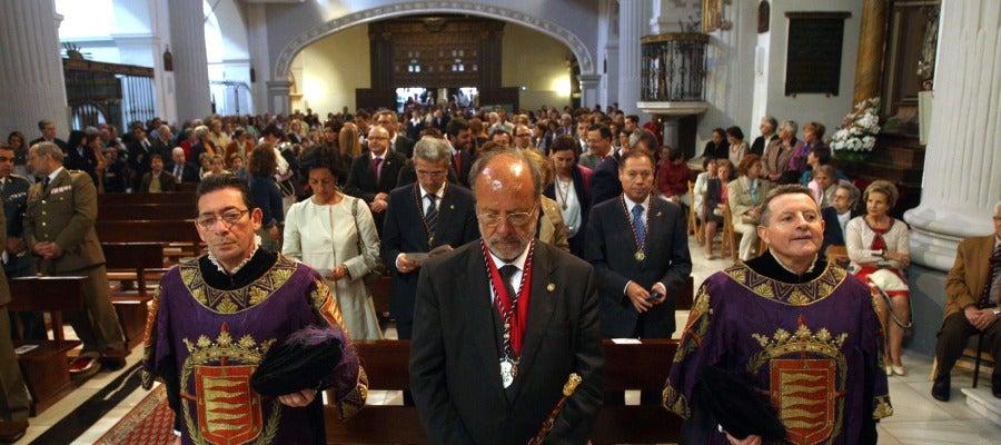 El alcalde de Valladolid, Francisco Javier León de la Riva, en la misa en honor de San Pedro Regalado