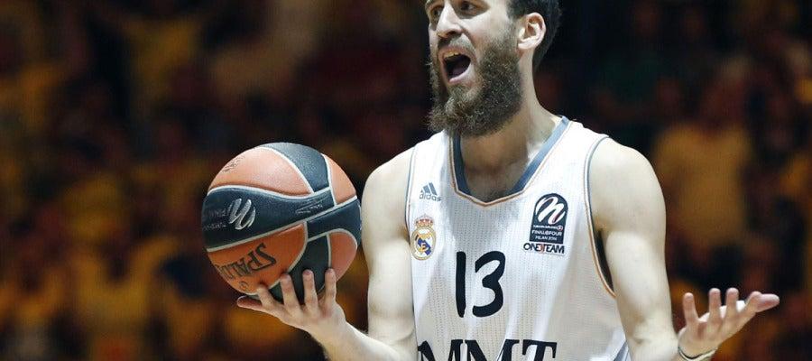 Sergio Rodríguez se lamenta ante el Maccabi