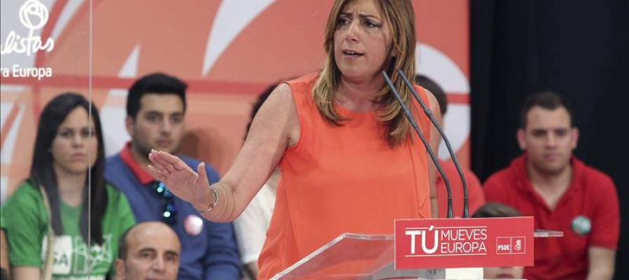 Susana Díaz en un acto electoral