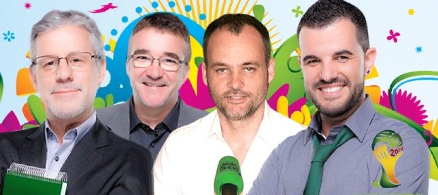 Presentadores de los programas deportivos de Onda Cero en el Mundial de Brasil
