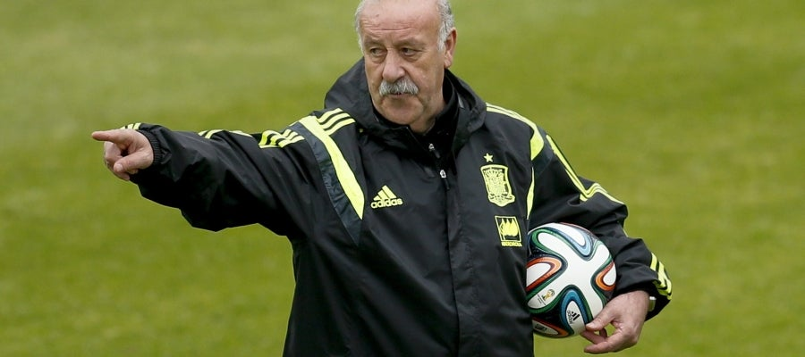 Vicente del Bosque, en un entrenamiento