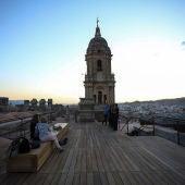 Amanecer desde la la Catedral de Málaga