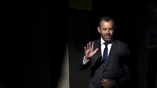 Sandro Rosell, entrando a la Audiencia Nacional