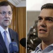 Mariano Rajoy y Pedro Sánchez, líderes del PP y del PSOE