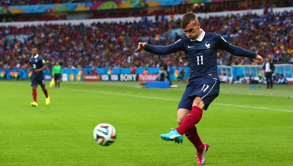 Griezmann, con la selección de Francia