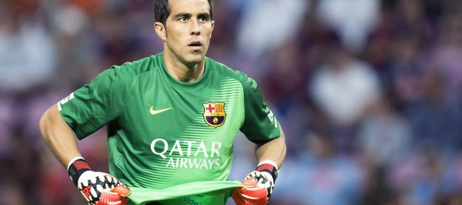 Claudio Bravo, portero del Barcelona