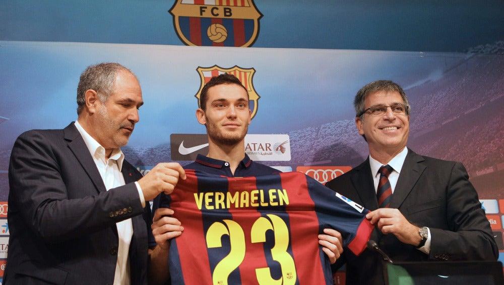 Vermaelen presentado con el Barcelona