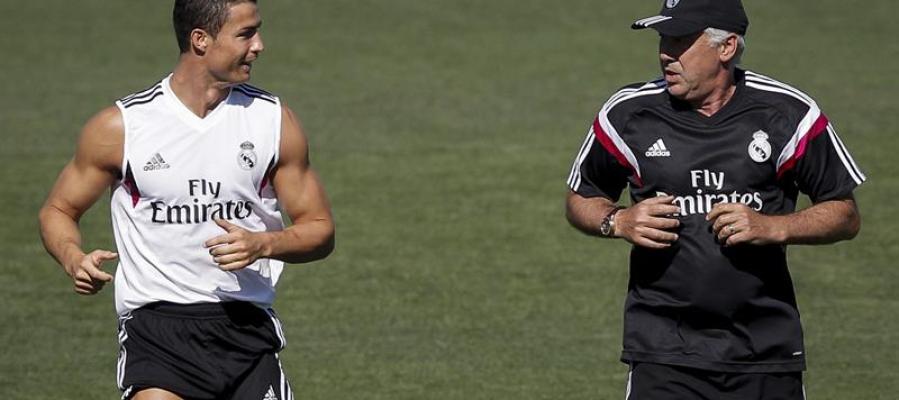Ancelotti corre junto a Cristiano